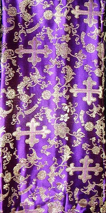Purple & Gold Asian Fabric