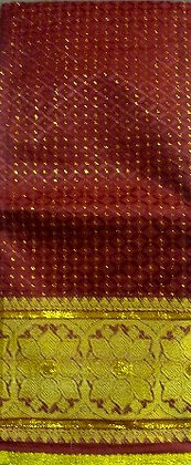 Burgundy & Gold Metallic Fabric