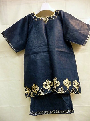Black Set with Gold Embroidery