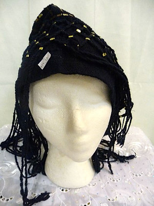 Mud Hat with Fringes