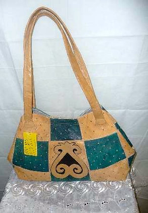 Turquoise & Green Leather Bag