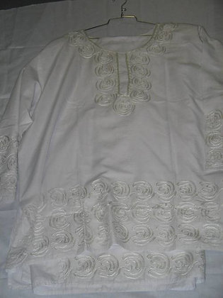 White Brocade Set