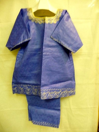 Blue Set with Gold Embroidery
