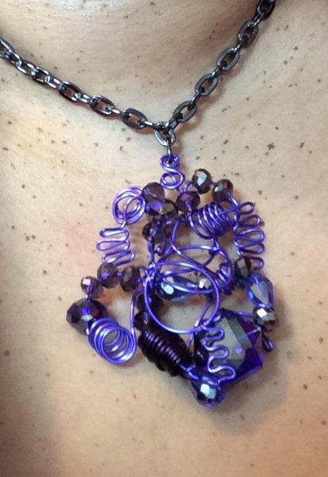 Purple Haze Neck Sculpture