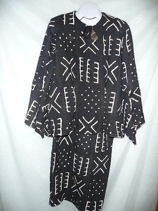 Black & White Mud Cloth Set