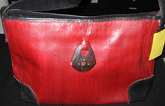 Black & Red Leather Bag