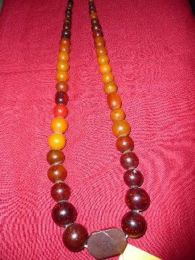 Red Amber Necklace