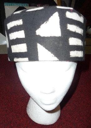 Black & White Mud Cloth Hat