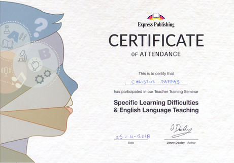 Specific Learning Difficulties & English Language Teaching
