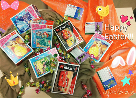 Happy Easter presents for our little Junior- pupils!