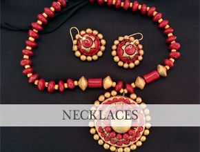 Rutu's Kreations Terracotta Jewellery Necklace Sets Bangalore Online Shopping