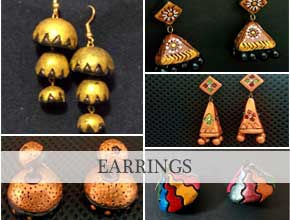 Rutu's Kreations Terracotta Jewellery Jhumkas Bangalore Online