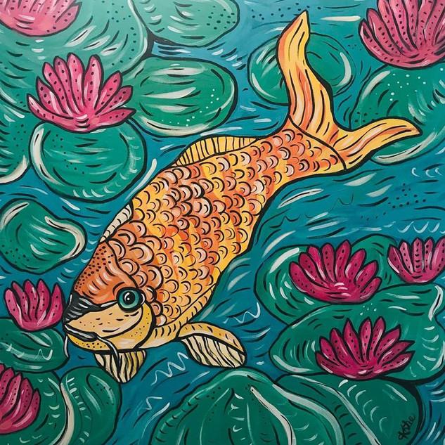 Painting Koi
