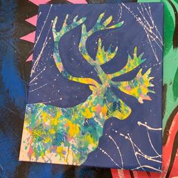 Coloured Elk
