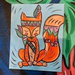 Tribal Fox Art