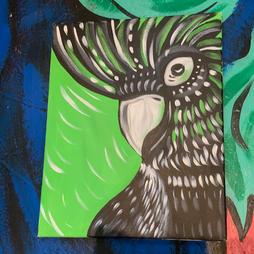 Green black Cockatoo