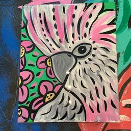 Cockatoo pink & Green
