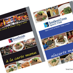 Menu design - Southside Clubs