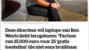 Ben Weyts stuurt scholen de factuur voor gratis laptops