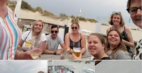 Laatste schooldag VTI Zeebrugge met strandbarbecue eindigt met onweer