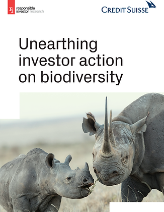 Unearthing investor action on biodiversity