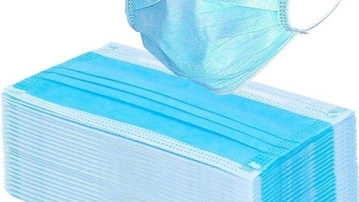10 Pcs 3-Ply Blue Disposable Mask
