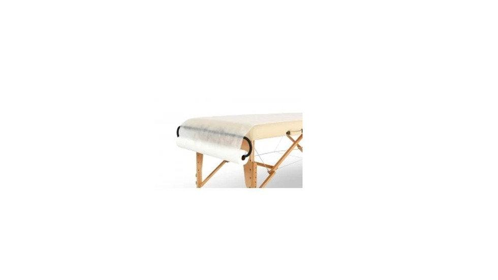 NON WOVEN DISPOSABLE MASSAGE TABLE SHEETS ROLL 50PC PRECUT