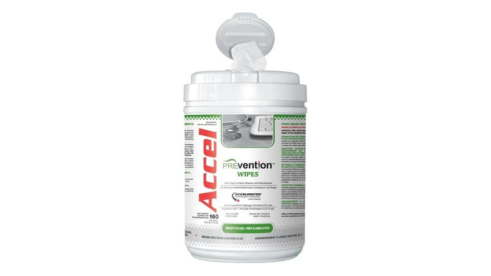 ACCEL PREVENTION VIROX 3 MINUTE ONE-STEP SURFACE DISINFECTANT WIPE 6″X7″ 160 PER