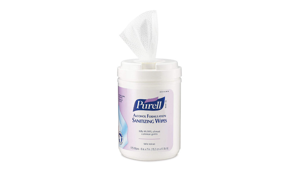 PURELL ALCOHOL HAND SANITIZING WIPE CANISTER 175 COUNT
