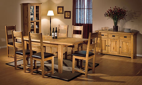Smart-Dining-Room-Furniture-Plans-Solid-Oak-Dining-Table-with-6-Chairs-as-Solid-Oak-Console-Table-wi