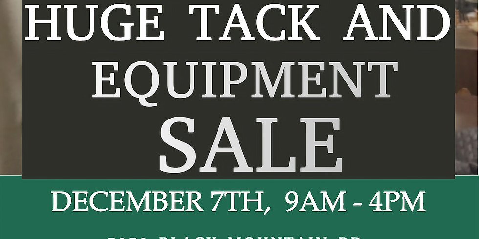 Tack and Equipment Sale