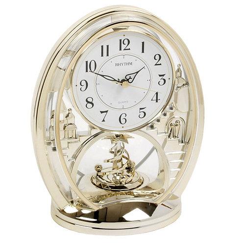 Mantel Clock With Animated Rotating Pendulum