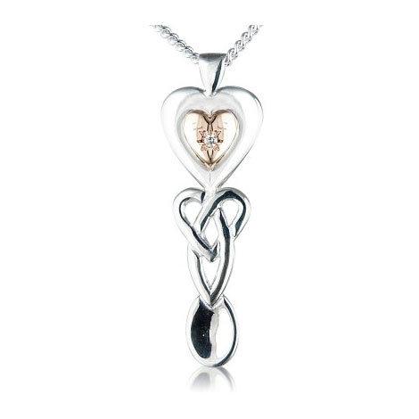 Lovespoon Pendant with Diamond
