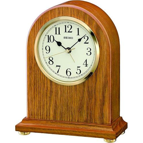 Seiko Wooden Mantel Alarm Clock QXE031B