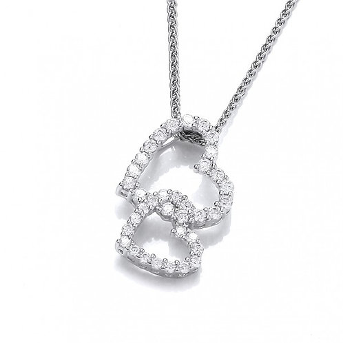 Frilly Little Hearts Pendant without chain