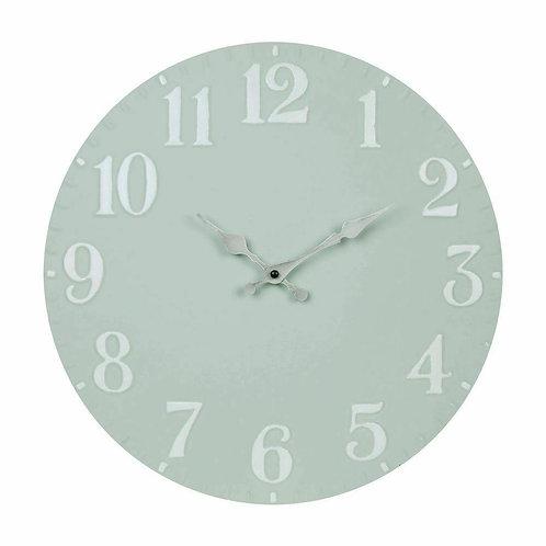 Home Grey Metal Wall Clock Silver Hands 40cm