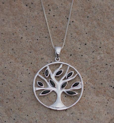 PRESELI BLUESTONE TREE OF LIFE PENDANT