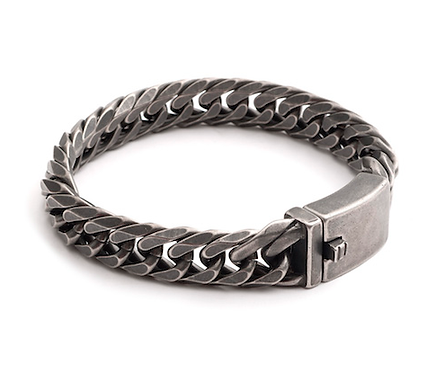 21cm Gunmetal Curb Bracelet