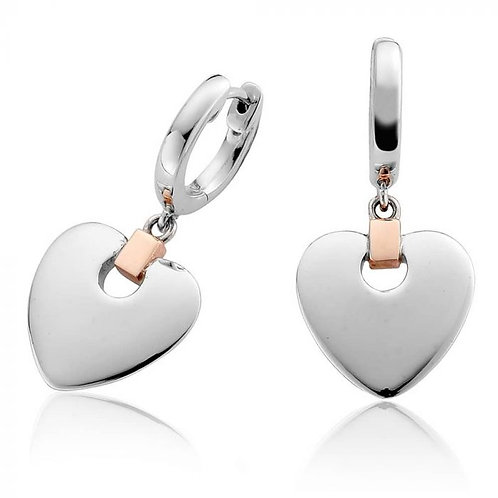 Cariad® Heart Drop Earrings