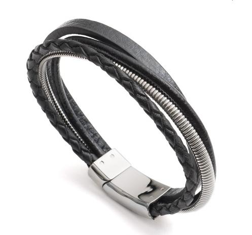 23cm Black Multi-Strand Bracelet