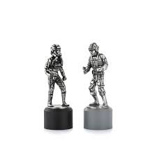 Rebel & Imperial Pilot Rook Chess Piece Pair
