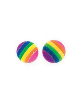 Rainbow Ball Studs