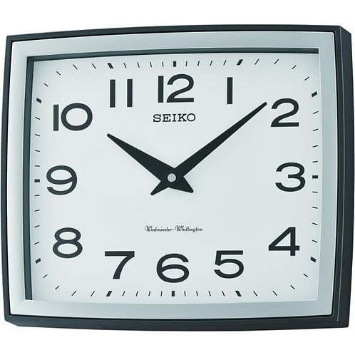 Seiko Square Battery Westminster Chime Wall Clock QXD211K