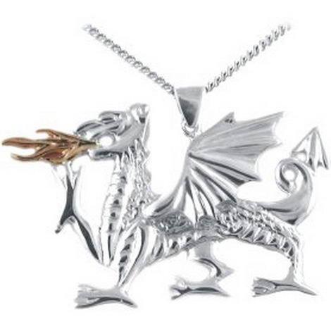 Large Fiery Dragon Pendant
