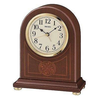 Seiko Dark Wooden Alarm Mantle Clock QXE057B