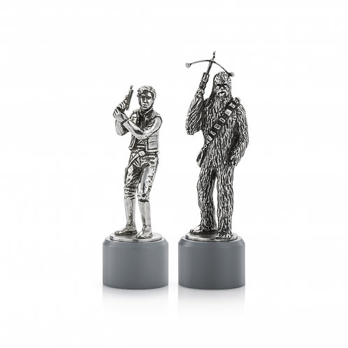 Han Solo & Chewbacca Bishop Chess Piece Pair