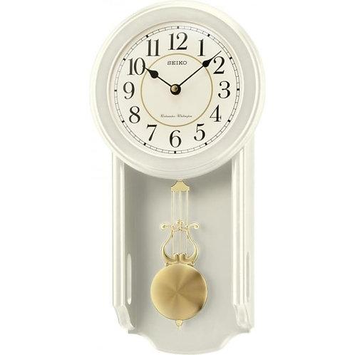 Seiko Wood Cream Finish Pendulum Westminster Chime QXH063C