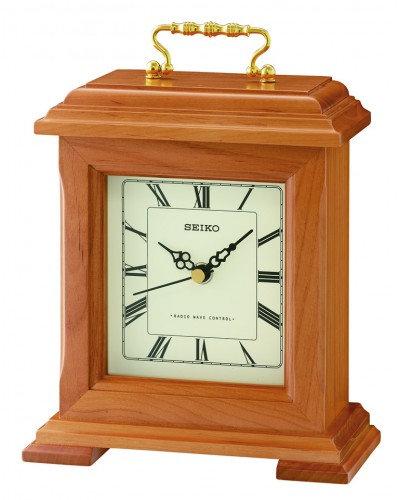Seiko Radio Controlled Wooden Mantel Clock QXR304B