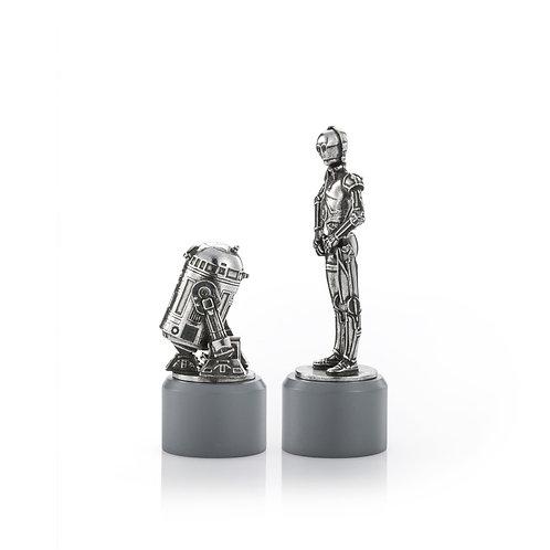 R2-D2 & C-3PO Knight Chess Piece Pair