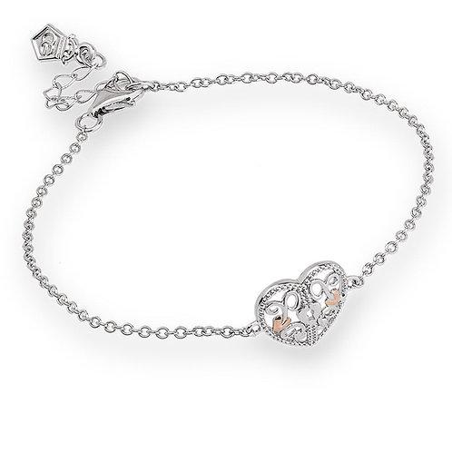 Kensington Heart Lock Bracelet